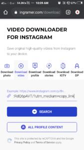 instagram video downlaoder website